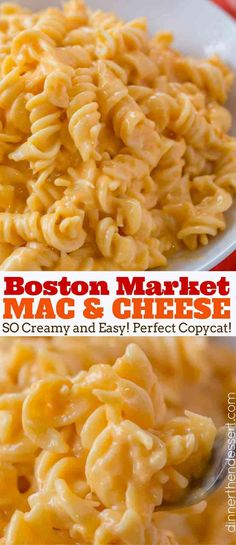 Boston Market Mac and Cheese, made with three cheeses is super creamy and easy to make and the perfect copycat! Super creamy, cheesy and easy to make! Crockpot Mac N Cheese Recipe, Macaroni Cheese Recipes, Crockpot Recipes, Cooking Recipes, Healthy Recipes, Noodles Mac And Cheese Recipe, Shrimp Recipes, Salmon Recipes, Recipes