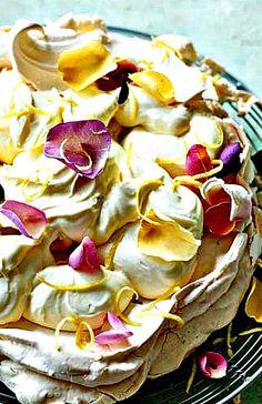 Lemon Chiffon Pavlova - A show-stopping dessert!