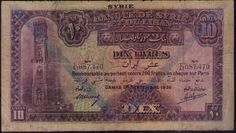 LEBANON BANK AND SYRIA 1939 COLORFUL RARE 10 LIVRES RARE OFFER