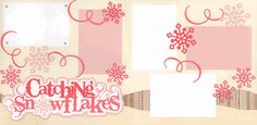 Catching Snowflakes-Girl Page Kit