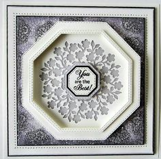 PartiCraft (Participate In Craft): Double Stitched Noble Octagons Hexagon Cards, Quilling Craft, Sue Wilson, Spellbinders Cards, Retirement Cards, Paper Butterflies, Beautiful Handmade Cards, Card Making Techniques, Hobbies And Crafts