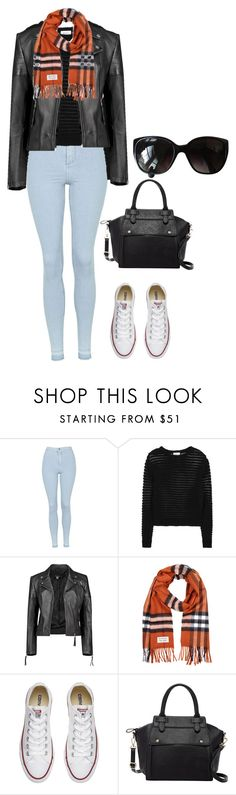 """""""Untitled #172"""" by crissgab12 on Polyvore featuring Topshop, DKNY, Boohoo, Burberry, Converse, Pink Haley and Chanel"""