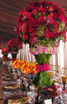 Elaborately designed centerpiece & tablescape <3