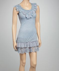 Take a look at this Blue Jean Lace Dress - Women on zulily today!