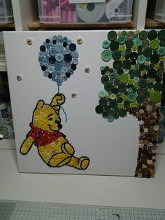 Winnie the Pooh button art