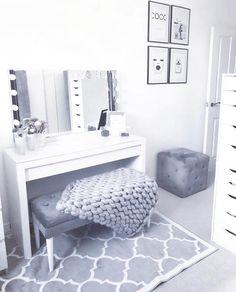 38 Outstanding Teen Bedroom Wall Decor - Fabulous Vanity Table Ideas The Marble Home Vanities In - Teen Bedroom, Bedroom Wall, Bedroom Decor, Wall Decor, Bedroom Corner, Girl Bedrooms, Vanity Room, Corner Vanity, Tumblr Rooms