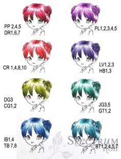 Spectrum noir hair color chart and shiny hair tutuorial