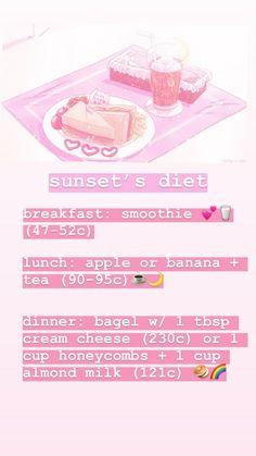 Banana Tea, Extreme Diet, Diet Breakfast, Honeycomb, Bagel, Lunch, Apple, Dinner, Cream