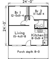 Plan W57063HA: Narrow Lot, Cottage House Plans & Home Designs