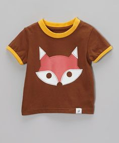 Brown & Yellow Fox Tee - Infant & Toddler