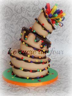 Topsy turvy cake for my son   Craftsy