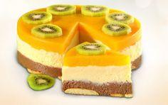 Broskyňová piškotová torta