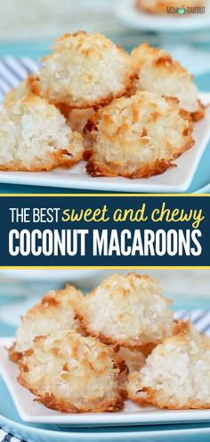 Coconut Macarons Recipe, Easy Macaroons Recipe, Coconut Desserts, Macaroon Recipes, Coconut Cookies, Coconut Recipes, Baking Recipes, Dessert Recipes, Cookie Recipes