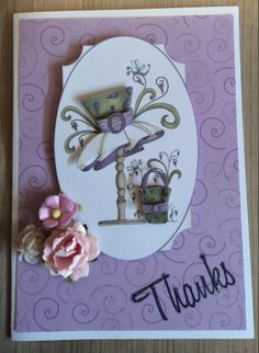 This layered Thank You card is made using the Katy Sue Design CD.