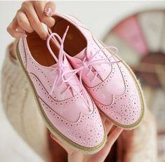 2016 caliente la venta ata para arriba Oxfords zapatos de mujer de cuero mujeres zapatos Oxford para mujeres, zapatos flatform