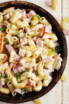 PÂTE, JAMBON, ANANAS, OIGNON 15 délicieuses salades de pâtes à déguster cet été - Les Éclaireuses