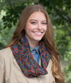 Autumn Breeze Ripple Throw Crochet a cowl that's perfect for fall. http://b...