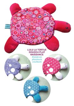tortue More Handmade Baby, Handmade Toys, Handmade Crafts, Diy And Crafts, Sewing Toys, Baby Sewing, Fabric Toys, Fabric Crafts, Diy For Kids