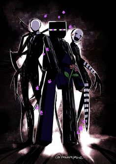 Slenderman, Enderman and Marionnette (Puppet) Minecraft Drawings, Minecraft Comics, Minecraft Mobs, Minecraft Fan Art, Anime Fnaf, Kawaii Anime, Minecraft Wallpaper, Fnaf Drawings, Cartoon Crossovers