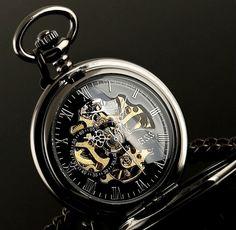 Skeleton Gear Pocket Watch