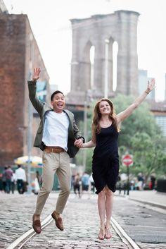 DUMBO engagement shoot, plymouth street, brooklyn bridge, engagement photos…