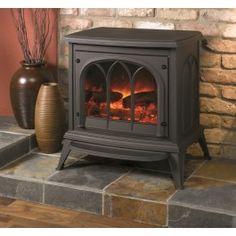 De #Gazco Ashdon electrische kachel straalt elegantie en kwaliteit uit, van het met de hand geverfd branderbed en houtblokken, tot de schitterende emaille afwerking toe. #Fireplace #Fireplaces #Elektrischekachel #Elektrischehaard #Kampen #Interieur