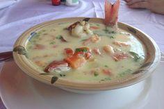 Nicaraguan Style Fish Soup (Sopa de Pescado) Recipe on Pescado Recipe, Nicaraguan Food, Chicken Dumpling Soup, Latin American Food, Fish Soup, Comida Latina, Food 52, International Recipes, I Love Food