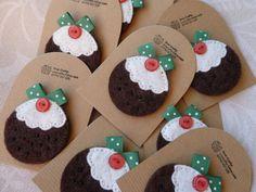 Handmade Felt Christmas Holidays Pudding Brooch by SewCraftyLou, £5.00