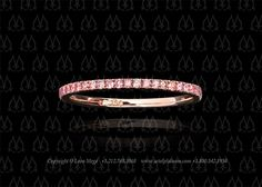 Pink diamond wedding band by Leon Mege Rose Gold- my fave!