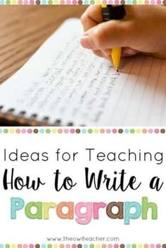 Expand your students' writing skills with these teaching ideas on writing a paragraph! writing Ideas for Teaching How to Write a Paragraph Writing Classes, Writing Lessons, Writing Workshop, Kids Writing, Teaching Writing, Writing Skills, Teaching Ideas, Writing Ideas, Writing Activities