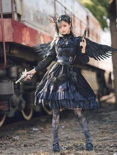 Pre-order Blood Hunt Gothic Fullset by LingXi Gothic Lolita Fashion, Gothic Outfits, Gothic Lolita Dress, Lolita Style, Girl Outfits, Cute Outfits, Fashion Outfits, Emo Outfits, Fashion Boots