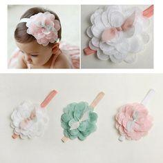 Fofo Crianças Bebê Menina Cabelo Flor De Renda Criança Faixa de cabeça faixa Acessórios Headwear