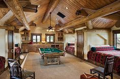 mountain home bunk room minus the pool table