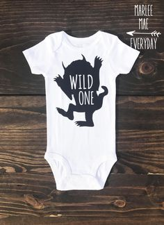 Wild One first birthday onesie, boys first birthday, where the wild things are by MarleeMaeEveryday on Etsy https://www.etsy.com/listing/518754927/wild-one-first-birthday-onesie-boys