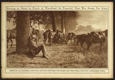 Resting at Noon in a Patch of Woodland So Peaceful That War Seems Far Away (LOC) Political Discussion, Library Of Congress, World War I, Wwi, Far Away, Woodland, Patches, Rest, Peace