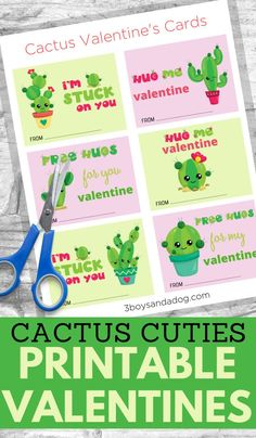 These fun Printable Cactus Valentine Cards for Kids are perfect for kids to take to school for their Valentines party or for them to just make with a happy valentine friend. Valentines For Boys, Valentine Cards, Tiny Gifts, Valentine's Cards For Kids, Easter Projects, Spring Theme, Activities For Kids, Cactus, Printables