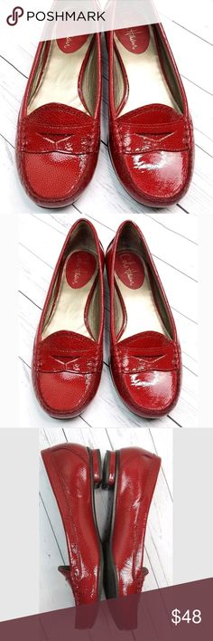 4b657336b0ebb Cole Haan Red Patent Penny Loafers Slip on Shoes Cole Haan Red Patent  Leather Penny Loafers Slip On Shoes Women s Size B Medium Excellent  Condition only a ...