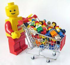 LEGO minifigures shopping