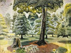 Charles E. Burchfield (1893-1967), Mid-June, 1917-1944; watercolor on paper mounted on Masonite, 36 x 48 inches, sheet, 41 ½ x 53 ½ x 1 3/8 ...