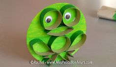 TP frog on a Lilly pad - adorable recycled craft