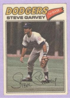 #Pinterest #eBay #Auction 1977 Topps Cloth Sticker #19 Steve Garvey Baseball Card LA Los Angeles Dodgers Future HOFER EX
