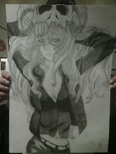 Ninel or however you spell her name from Bleach. I drew it on gigantic paper so it took a long time