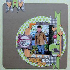 #papercraft #scrapbook #layout.  LO-Jodi Wilton-Apple of Eye