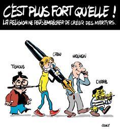 Tignous, Cabu, Wolinski, Charb, par Couly