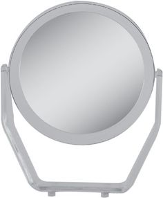Zadro Two-Sided Swivel Magnification Acrylic Vanity Makeup Mirror for Bedroom, Bathroom and Tabletop