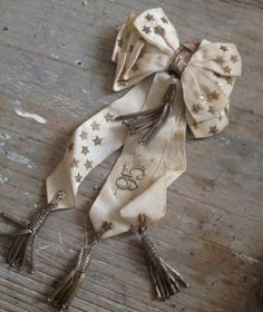 1895-Star embellished Ribbon Bow in the shop-FleaingFrance Brocante Society