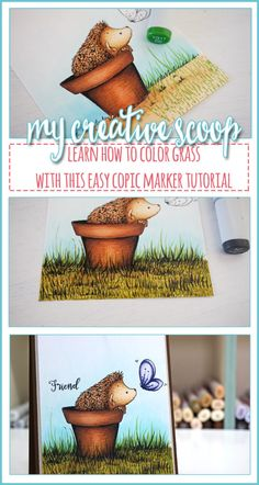 How to Color Grass using Copic Markers - Step by step Copic Marker tutorial on How to Color Grass using Copic Markers. Copic Marker Art, Copic Pens, Copics, Color Of The Day, To Color, Color Card, Copic Drawings, Copic Sketch, Copic Color Chart