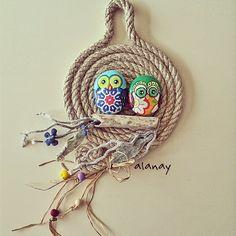 #alanay #geridönüşüm #dıy #elemeği #elyapımı #handmade #duvarsüsü #baykuş #owl #stonepainting #taşboyama #stone #taş #urgan  #mutlubayramlar  Günaydın  ramazan bayramımız kutlu olsun dostlarım.