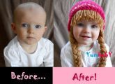 Baby Hat Cabbage Patch Hat Pigtail WIg Costume Photo Props Halloween costume
