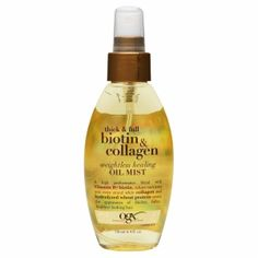 Buy OGX Thick + Full Biotin & Collagen Weightless Healing Oil Mist with free shipping on orders over $35, low prices & product reviews | drugstore.com